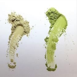 Grøn matcha tepylver føles blød er bedst