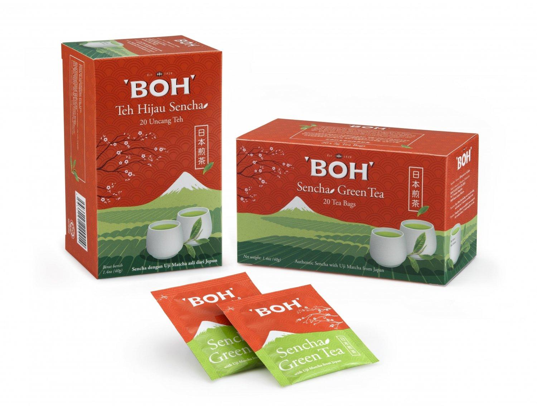 BOH grøn te med japansk MATCHA - 20 tebreve