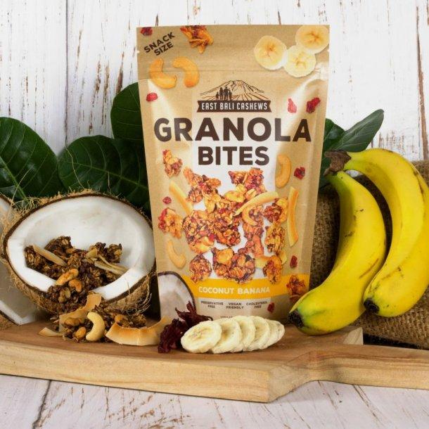 Granola Bites Cashewnødder kokos banan