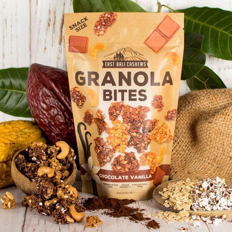 Granola Bites Cashewnødder chokolade og vanilje
