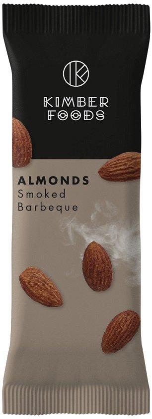 Kimber Foods ALMONDS Smoked Barbeque str. S (bedst før 15.10.2020)