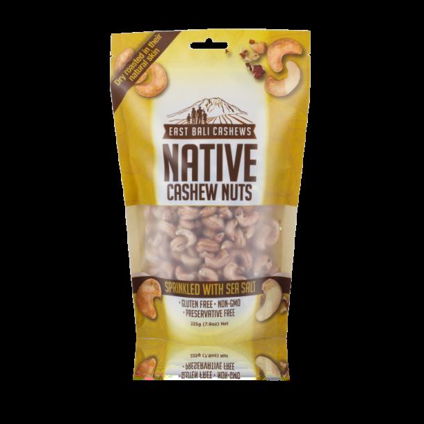 Native Cashew nødder havsalt (med skind)