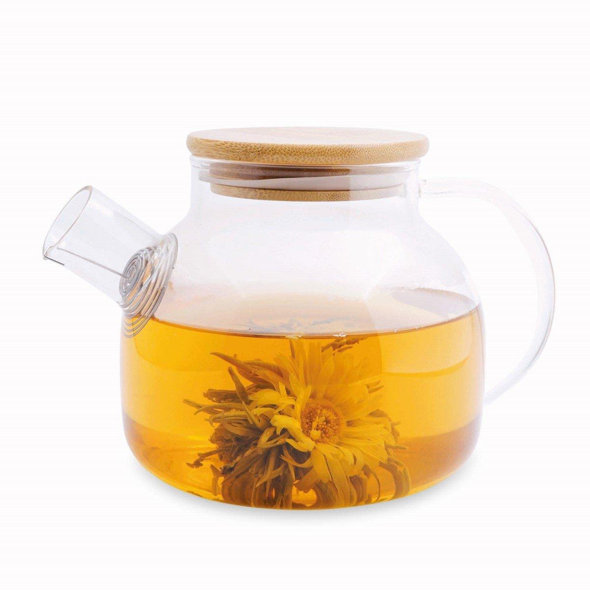 Tekande i glas med bambus låg 750 ml, Annie